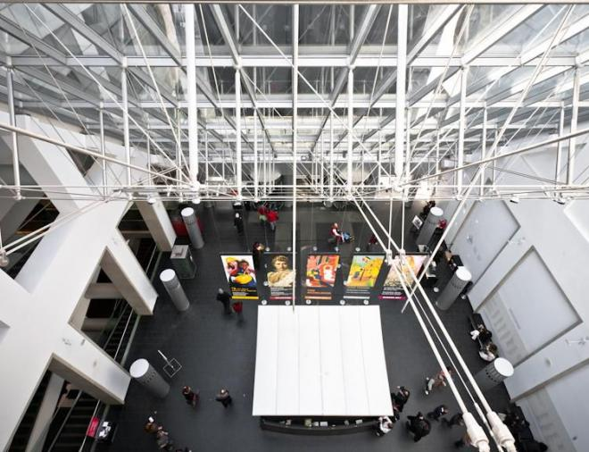 Atrium of the Jean-Noël Desmarais Pavilion, Montreal Museum of Fine Arts by Andrew Louis